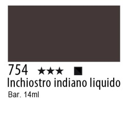 754 - Inchiostro colorato W&N Inchiostro indiano liquido