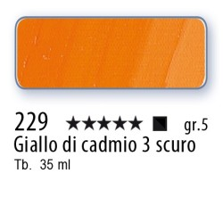 229 - Mussini giallo di cadmio 3 scuro