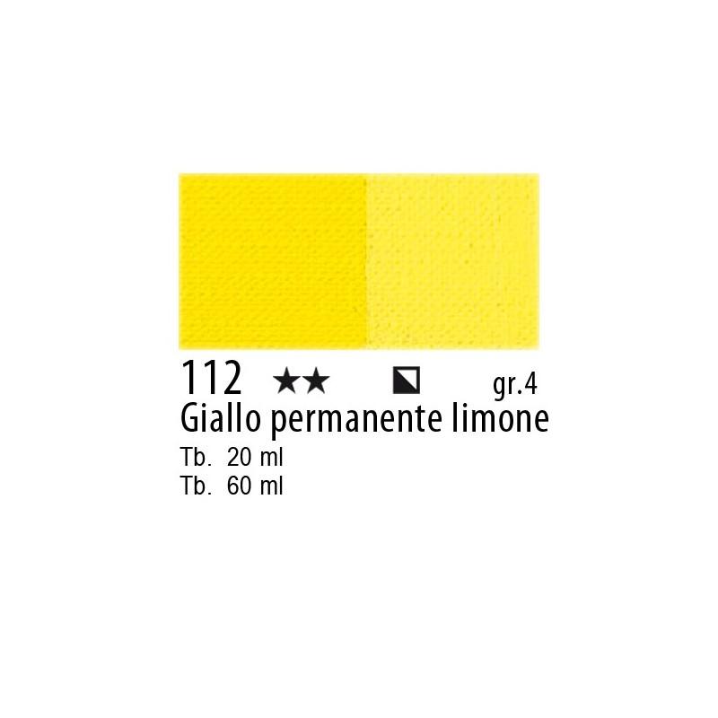 112 - Maimeri Olio Artisti Giallo permanente Limone