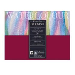 Fabriano Watercolour grana fina, blocco collato 4 lati, 20 fogli, cm 24x32, 200gr/mq