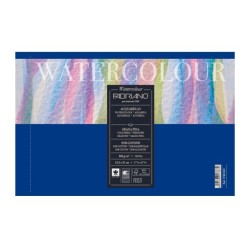 Fabriano Watercolour grana fina, album spiralato, 12 fogli microperforati, cm 32x41, 300gr/mq