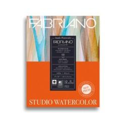 Fabriano Watercolor grana satinata, blocco collato 1 lato, 12 fogli, cm 22,9x30,5, 300 gr/mq