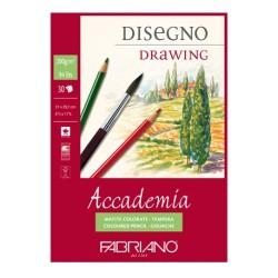 Fabriano Accademia, blocco collato 1 lato, 30 fogli, cm 21x29,7, grana naturale, 200gr/mq