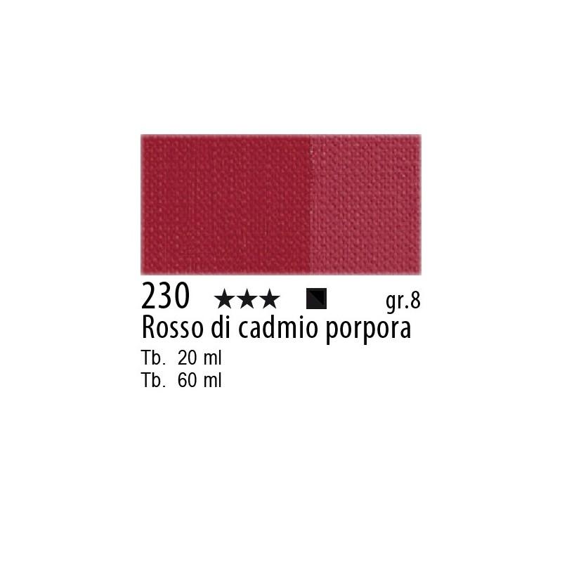 230 - Maimeri Olio Artisti Rosso di cadmio porpora