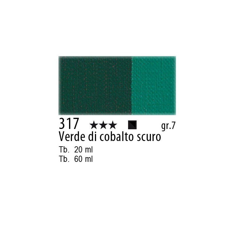 317 - Maimeri Olio Artisti Verde di cobalto scuro