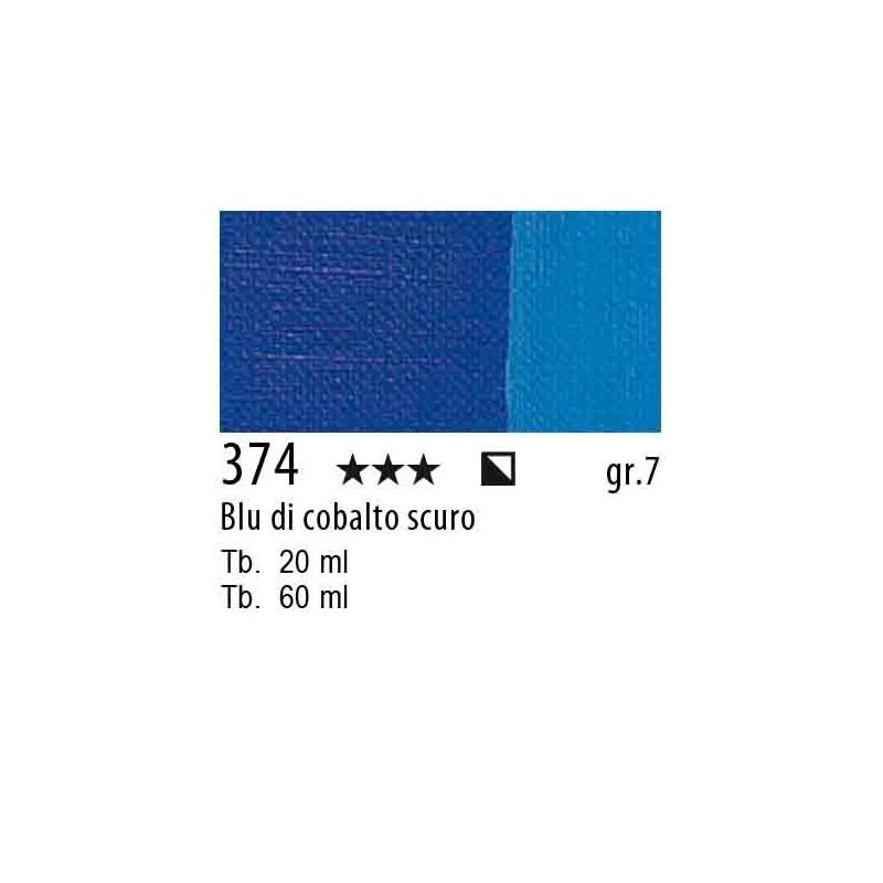 374 - Maimeri Olio Artisti Blu cobalto scuro