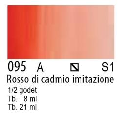 095 - W&N Cotman Rosso di cadmio imit.