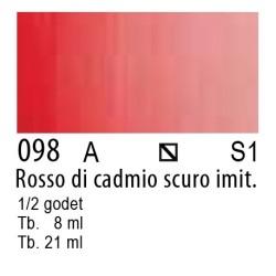 098 - W&N Cotman Rosso di cadmio scuro imit.