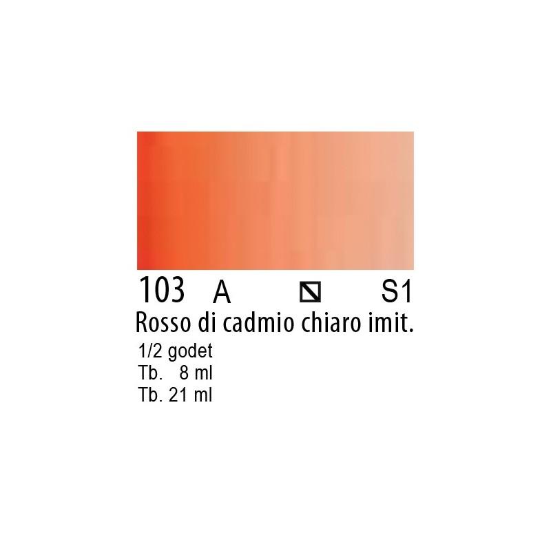 103 - W&N Cotman Rosso di cadmio chiaro imit.