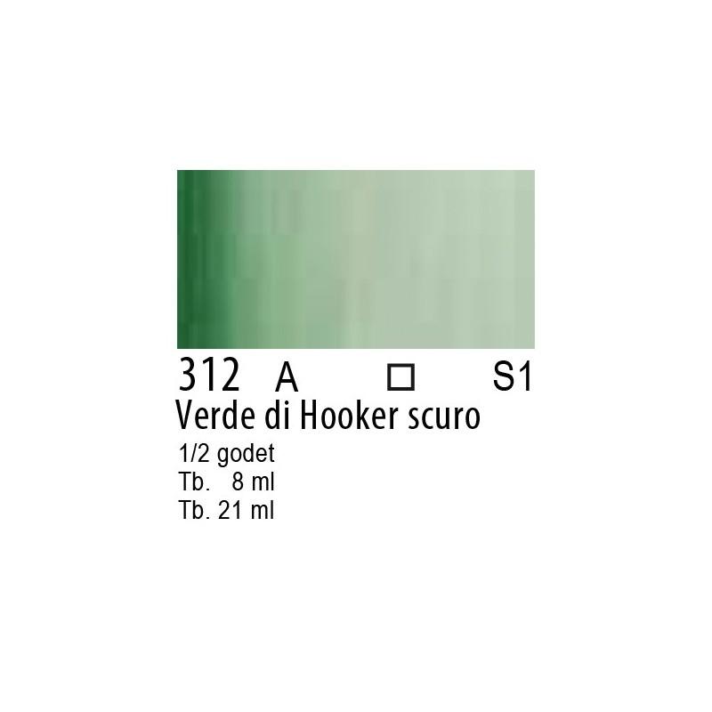 312 - W&N Cotman Verde di Hooker scuro