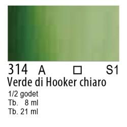 314 - W&N Cotman Verde di Hooker chiaro