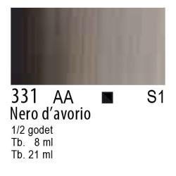 331 - W&N Cotman Nero d'avorio