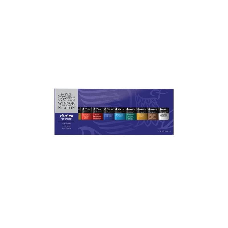 Winsor & Newton Confezione 10 tubi da 37ml colori olio Artisan