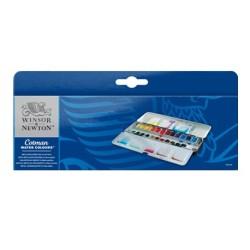 Winsor & Newton scatola metallo Sketchers 24 mezzi-godet Acquerello Cotman