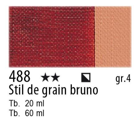 488 - Maimeri Olio Artisti Stil de grain bruno