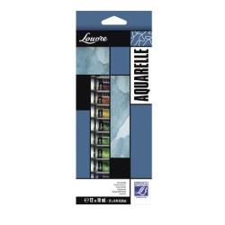 Lefranc scatola 12 tubi acquerello Louvre da 10ml