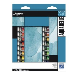 Lefranc scatola 24 tubi acquerello Louvre da 10ml