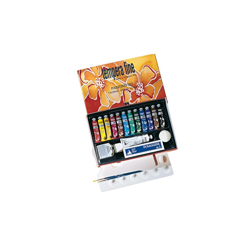 Maimeri Painting Set tempera fine 12 tubi 20ml