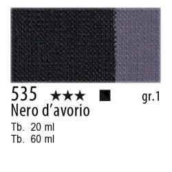 535 - Maimeri Olio Artisti Nero d'avorio