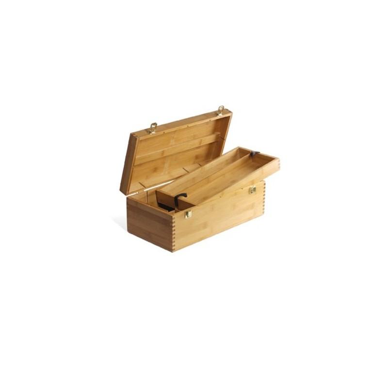 Bauletto Portacolori in legno con ripiano, CM.20X40X15H
