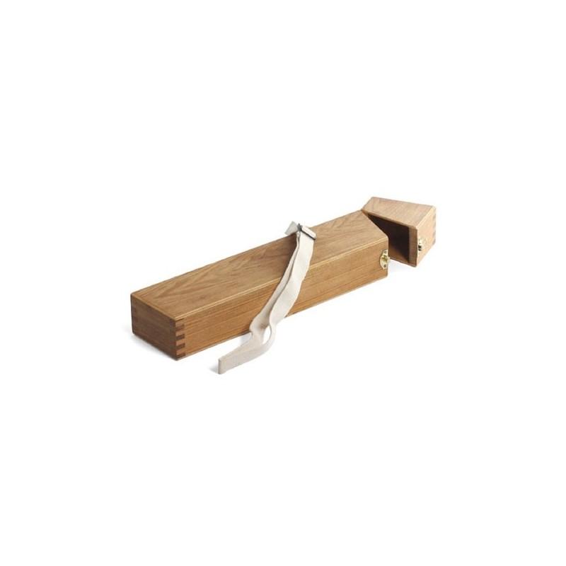 Astuccio portapennelli in legno con tracolla, CM.5,5X9X40H