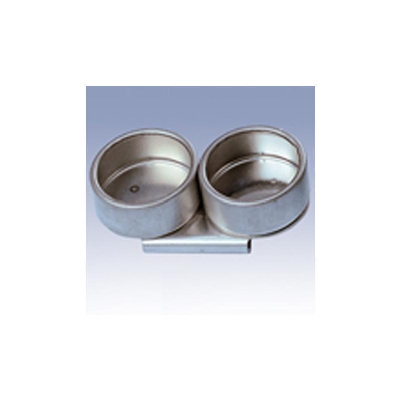 Scodellino doppio in metallo per tavolozza