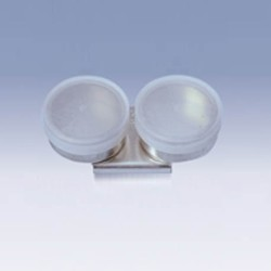 Scodellino doppio in metallo con tappo in plastica per tavolozza