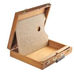 Cassetta Valigetta in legno CM.30X39X8H, con tavolozza