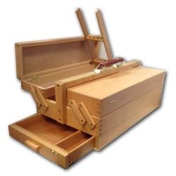 Cassetta Portacolori in legno tipo Portautensili, CM.23X42X14H