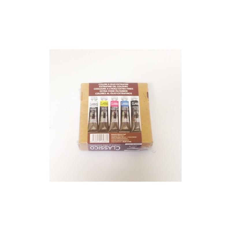 Maimeri scatola primari olio classico, 5 tubi 20ml