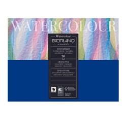 Fabriano Watercolour grana fina, blocco collato 4 lati, 20 fogli, cm 18x24, 300gr/mq