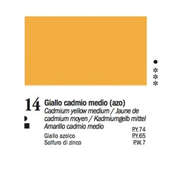 14 - Ferrario Olio Van Dyck Giallo cadmio medio - tubo 60ml