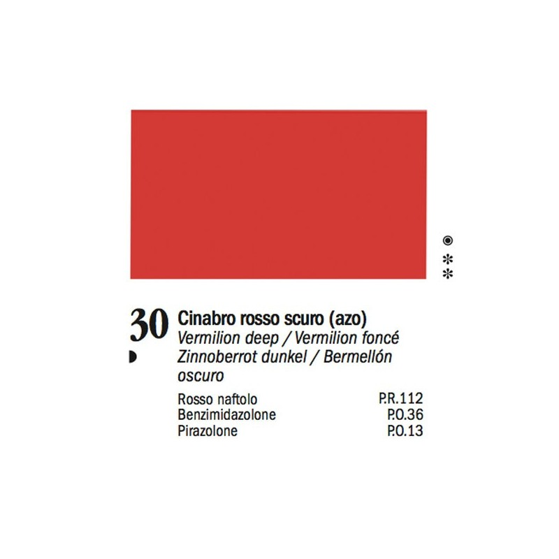 30 - Ferrario Olio Van Dyck Rosso cinabro scuro