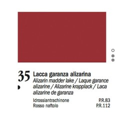 35 - Ferrario Olio Van Dyck Lacca garanza alizarina - tubo 60ml