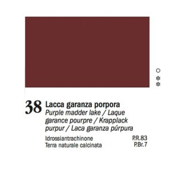 38 - Ferrario Olio Van Dyck Lacca garanza porpora - tubo 60ml