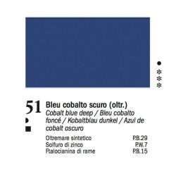 51 -Ferrario Olio Van Dyck Blu cobalto scuro - tubo 60ml