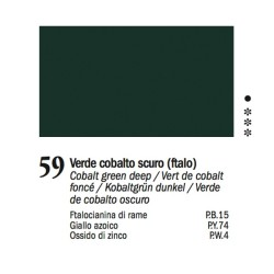59 -Ferrario Olio Van Dyck Verde cobalto scuro - tubo 60ml