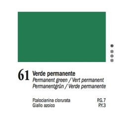 61 -Ferrario Olio Van Dyck Verde permanente - tubo 60ml