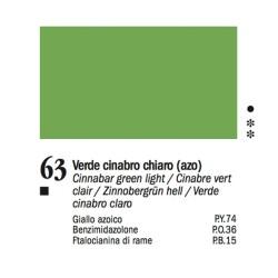63 -Ferrario Olio Van Dyck Verde cinabro chiaro - tubo 60ml