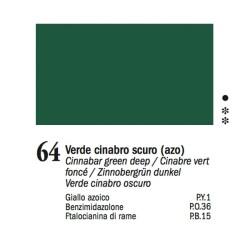 64 -Ferrario Olio Van Dyck Verde cinabro scuro - tubo 60ml