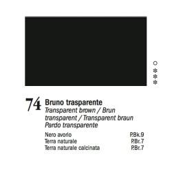 74 - Ferrario Olio Van Dyck Bruno trasparente - tubo 60ml