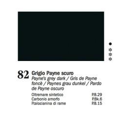 82 - Ferrario Olio Van Dyck Grigio di Payne scuro - tubo 60ml