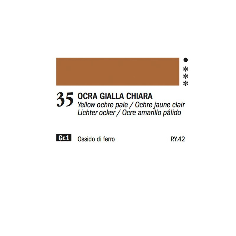 35 - Ferrario Olio Alkyd Ocra gialla chiara
