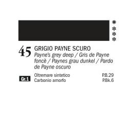 45 - Ferrario Olio Alkyd Grigio di Payne scuro