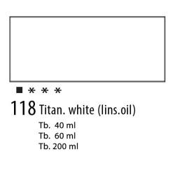118 - Olio Van Gogh Bianco al lino