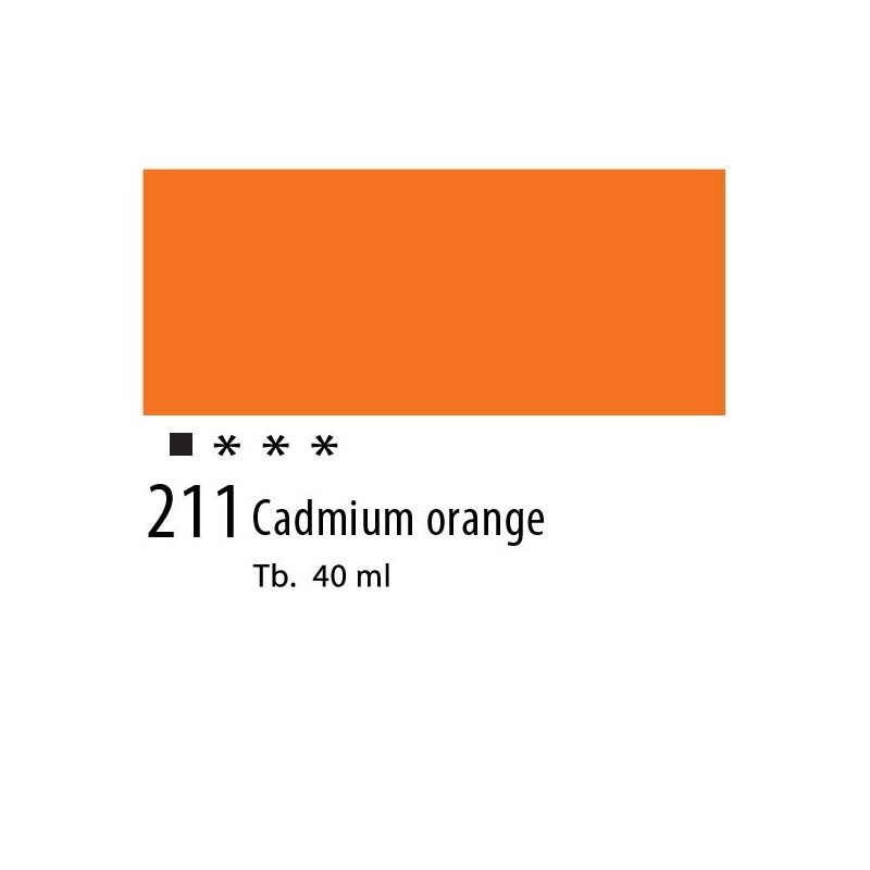 211 - Olio Van Gogh Arancio di cadmio