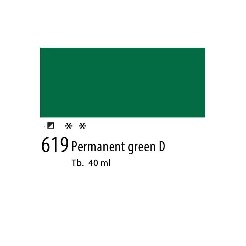 619 - Olio Van Gogh Verde permanente scuro