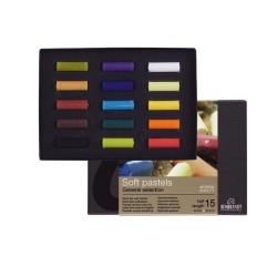 Rembrandt Soft Pastels Starter Set, scatola 15 mezzi pastelli soffici