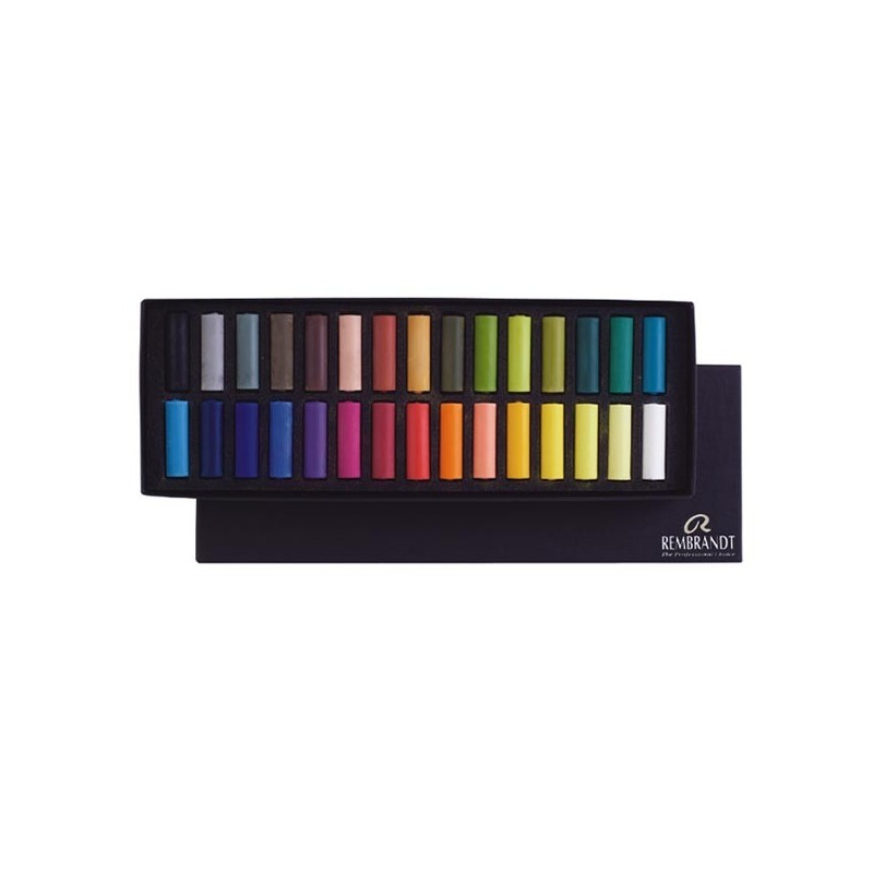 Rembrandt Soft Pastels Basic Set, scatola 30 mezzi pastelli soffici