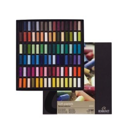 Rembrandt Soft Pastels General Selection Professional Set, scatola 90 mezzi pastelli soffici